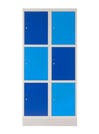 Locker Schoolbox Triple Llaves Azul 6 Puertas 76x45x167 cm Maletek,,hi-res