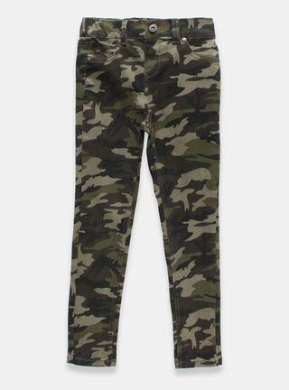 Pantalón Tribu Camuflaje Niña,Verde Militar,hi-res