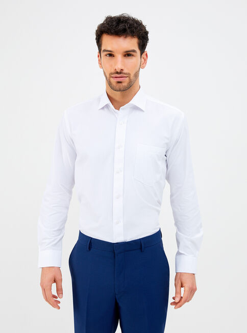 Camisa%20de%20Vestir%20Cl%C3%A1sica%20Blanca%20Semi%20Slim%20Rainforest%2CBlanco%2Chi-res
