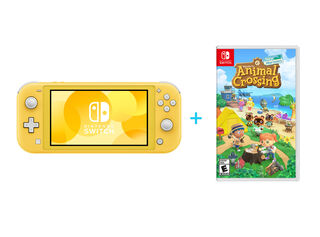 NINTENDO SWITCH LITE YELLOW + JUEGO NINTENDO SWITCH ANIMAL CROSSING: NEW HORIZONS