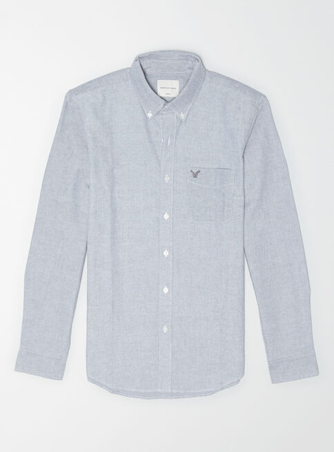 Camisa%20Solid%20Oxford%201376%20American%20Eagle%2CGris%20Perla%2Chi-res