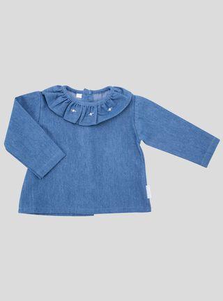 Blusa Denim Lucky Baby Vuelo Niña,Azul,hi-res
