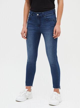 Jeans Tiro Alto Opposite,Azul Oscuro,hi-res
