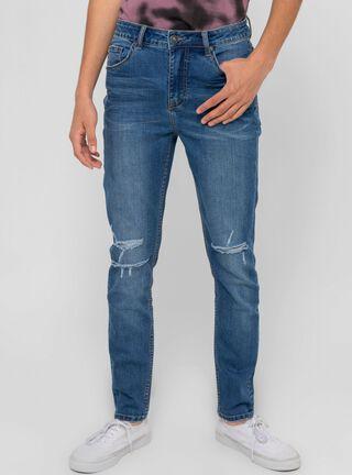 Jeans Focalizado Slim Fit Foster,Azul,hi-res