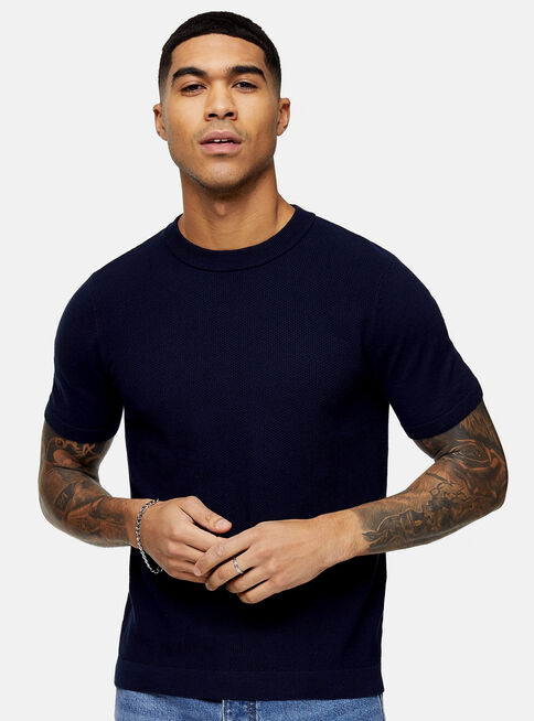 Polera%20Navy%20Stitch%20Knitted%20Topman%2C%C3%9Anico%20Color%2Chi-res