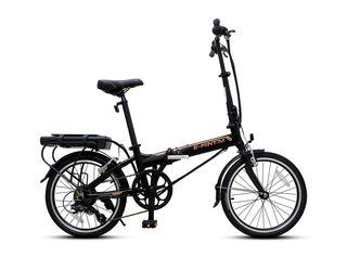 Bicicleta Eléctrica E-Fantom Black Plegable Deltec,,hi-res