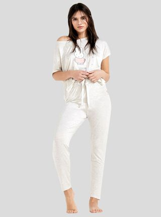 Pijama Básica Women Secret,Grafito,hi-res
