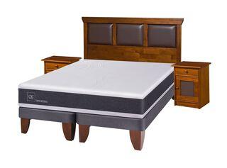 Cama Europea New Ortopedic King + Set Muebles Torino + Set Textil Cic,,hi-res