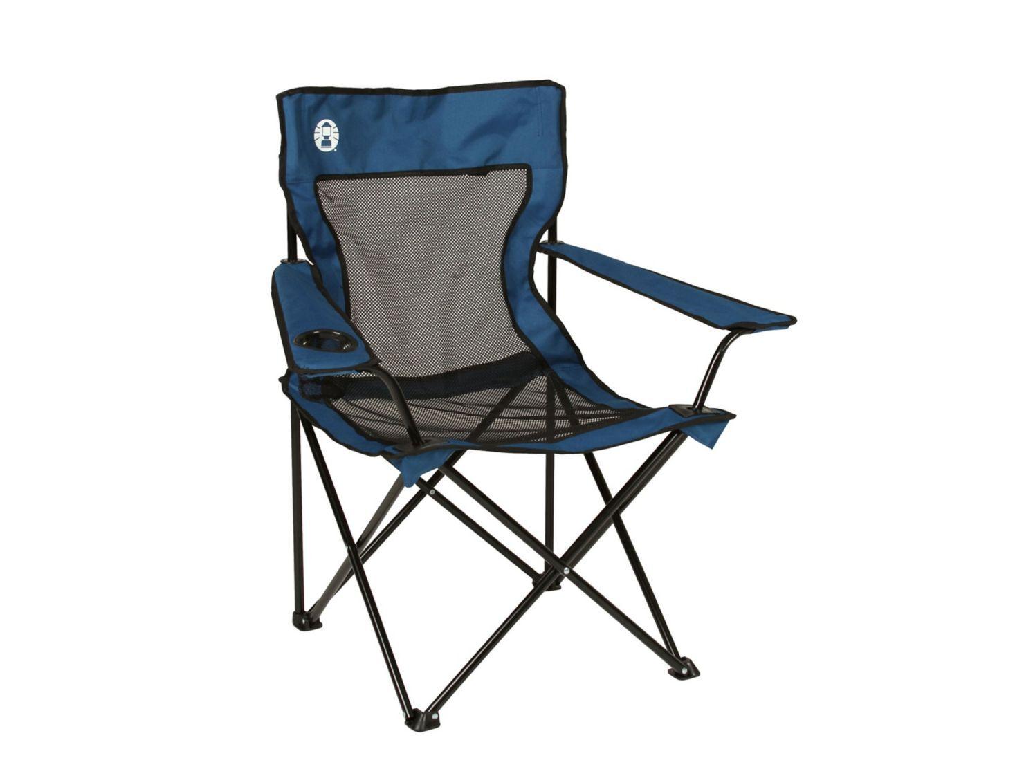 Silla Plegable Coleman Quad Azul - Sillas y Mesas Plegables  73495fc3cdf9