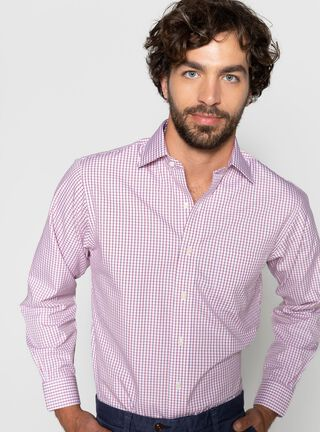 Camisa Ajustada Brooks Brothers,Rojo,hi-res