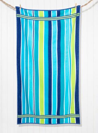 Toalla de Playa Attimo Tango Strip 550 gr 86 x 160 cm,Azul Petróleo,hi-res