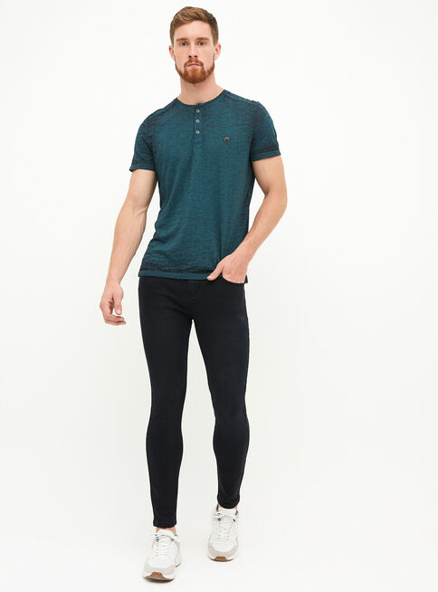 Jeans Super Skinny Negro Hombre Jjo Jeans Y Pantalones Paris Cl