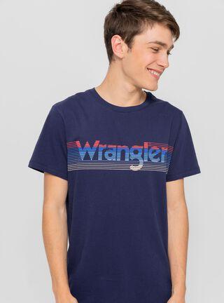 Polera Stripe Wrangler,Azul,hi-res