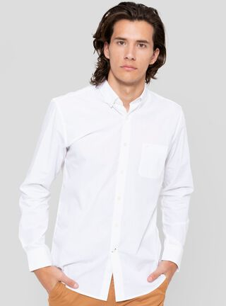 Camisa Cuello Americano Colors Greenfield,Blanco,hi-res