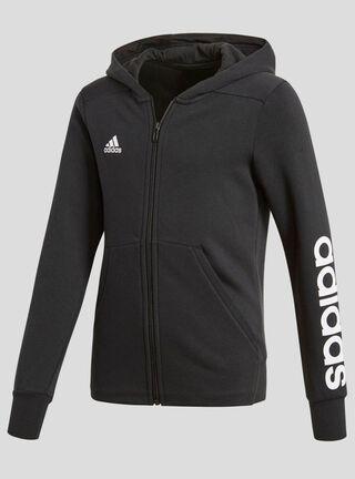 Polerón Adidas Con Capucha Essentials 3 Tiras Niña,Negro,hi-res