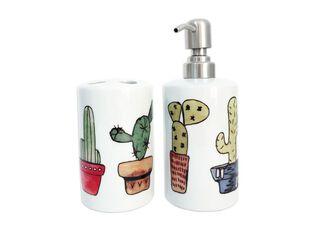 Set Baño Cerámica Cactus Paper Home,,hi-res