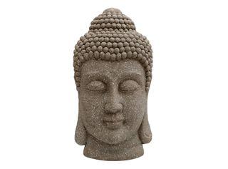 Adorno Cabeza de Buddha Pared Sarah Miller Gris 23 x 45 x 9 cm,,hi-res