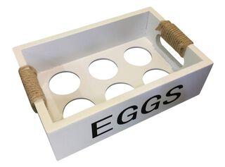 Caja Organizadora Madera Blanco Porta Huevos Attimo,,hi-res