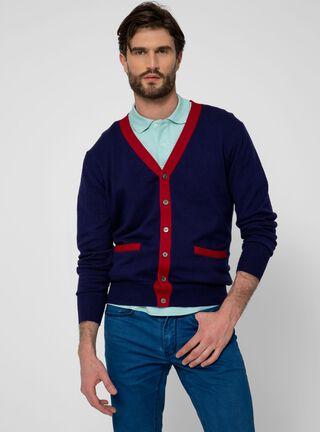 Sweater Clásico Cardigan SavilleRow,Azul Marino,hi-res
