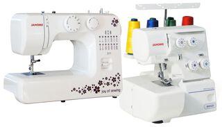 Máquina de coser Janome 311+ Overlock 8002D,,hi-res