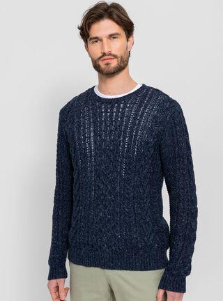 Sweater Crew Neck Sport SavilleRow,Azul Marino,hi-res