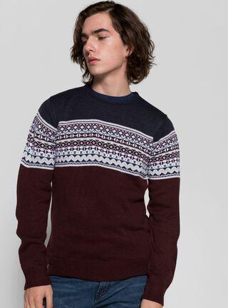Sweater Clásico Opposite,Caoba,hi-res