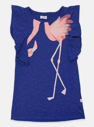 Vestido Tribu Flamingo Niña,Azul Eléctrico,hi-res