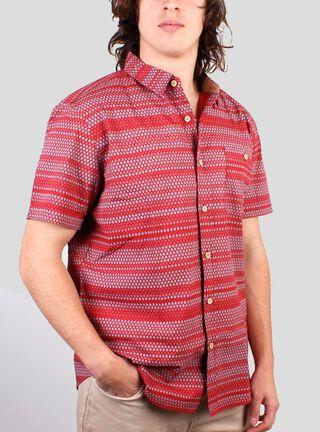 Camisa Clásica Lineal Burton,Ladrillo,hi-res