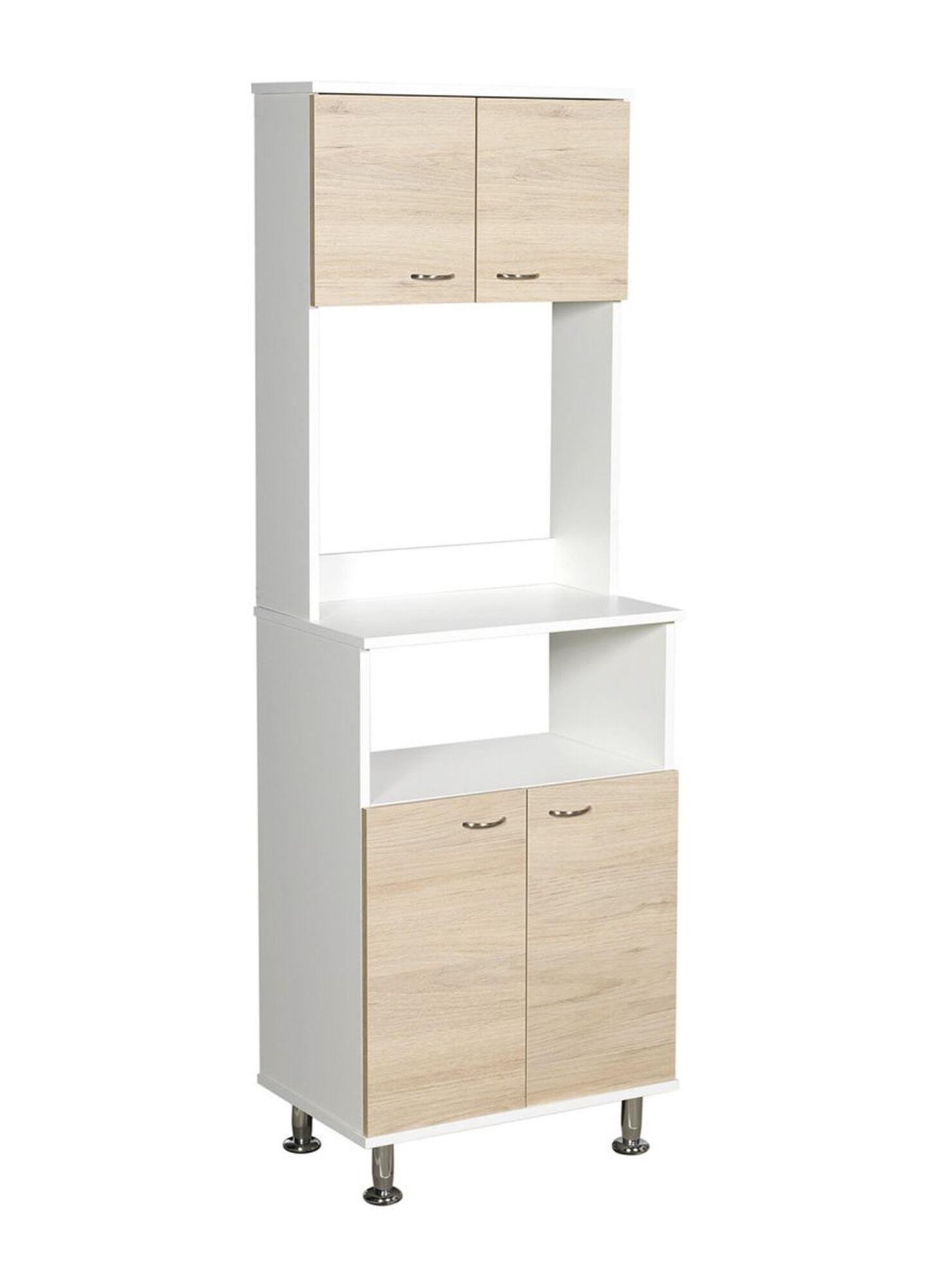 Mueble de Cocina Microondas Kitchen Café 4 Puertas 54x35x160 cm ...