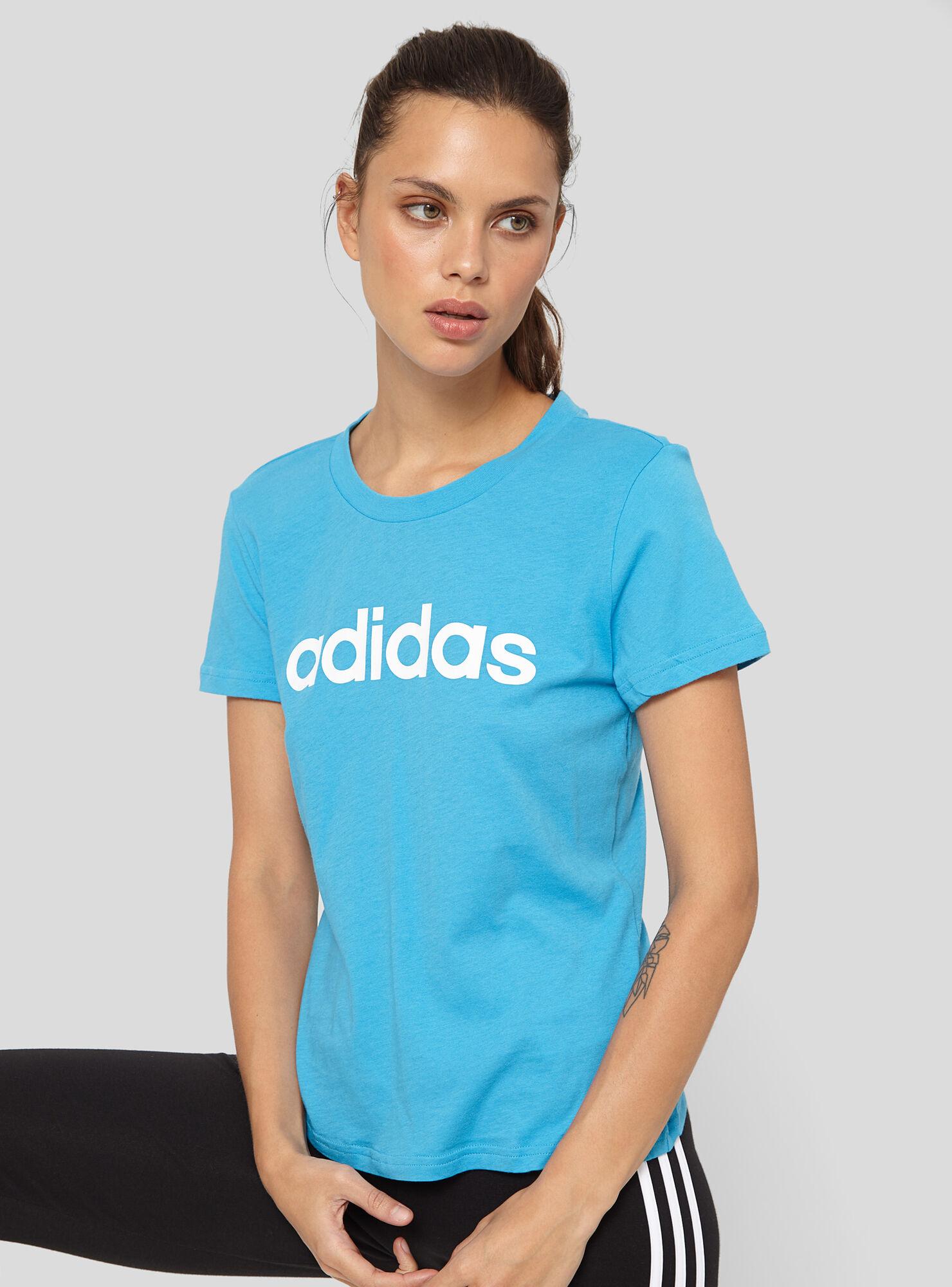 78c1c49763006 Polera Adidas Essentials Linear Mujer - Adidas