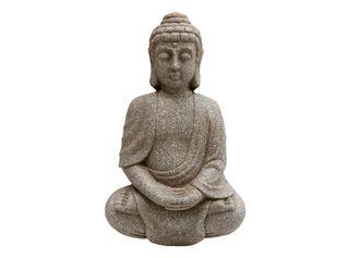 Adorno Buddha Pared Sarah Miller Gris 26 x 42 x 8 cm,,hi-res