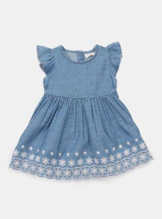 Vestido Opaline Manga Vuelos Niña,Azul Eléctrico,hi-res