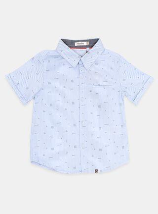 Camisa Opaline Rayas Niño,Celeste,hi-res
