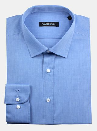 Camisa Slim Fit Largo anga 34-35 Cuello Bolognia sin Bolsillo Vandine,Celeste,hi-res