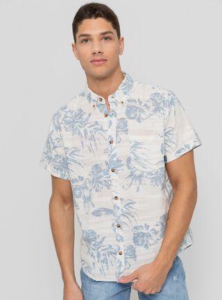 Camisa Manga Corta Estampada Aussie,Blanco,hi-res
