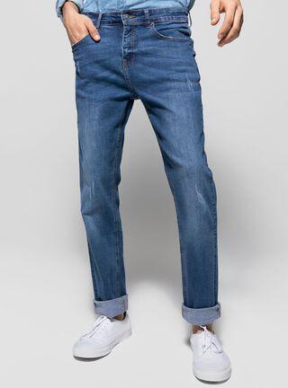 Jeans Slim Fit Focalizado Foster,Azul Eléctrico,hi-res