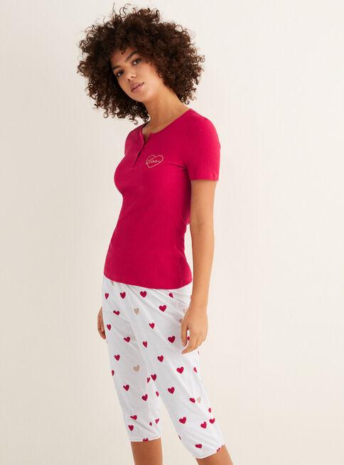 Pijama%20Daily%20Hearts%20Manga%20Corta%20Women'Secret%2CGranate%2Chi-res