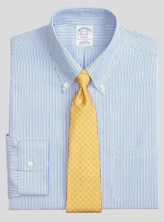 Camisa Non-Iron Regent Fit Tonal Bengal Stripe Brooks Brothers,Azul,hi-res
