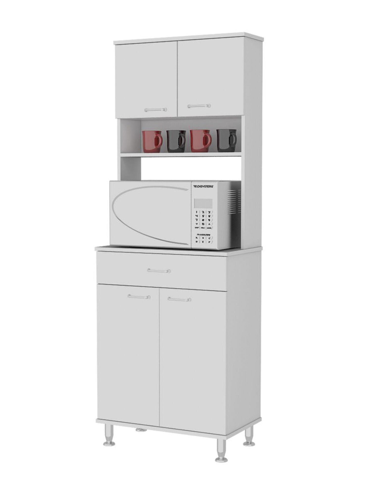 Mueble de Cocina Microondas Kitchen 4 Puertas 60x35x169 cm TuHome
