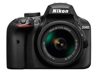 Camara Nikon Reflex D-3400 + Lente 18-55mm VR.,,hi-res
