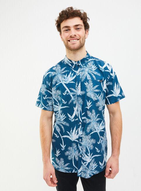 Camisa%20Manga%20Corta%20Microdise%C3%B1o%20Print%20Reef%2CAzul%2Chi-res