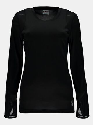 Camiseta Spyder Rebound L/S Tech T-Shirt Outdoor Mujer,Negro,hi-res