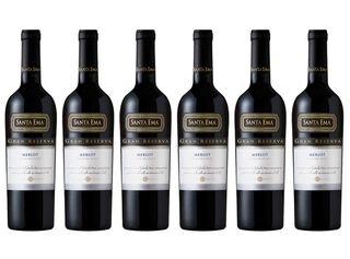 Pack 6 Vinos Santa Ema Gran Reserva Merlot 750 cc 13°,,hi-res