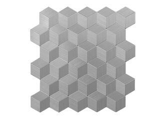 Mosaic Aluminio Cubos 3D 30 x 30 cm Decórame,,hi-res