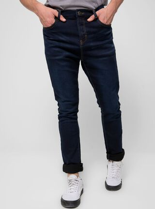 Jeans Skinny Liso Bolsillos Laterales Ellus,Azul Oscuro,hi-res