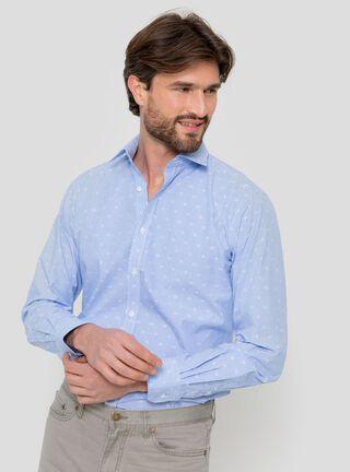 Camisa Casual Slim Arrow,Azul,hi-res