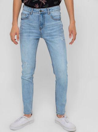 Jeans Focalizado Clásico Celeste Foster,Celeste,hi-res