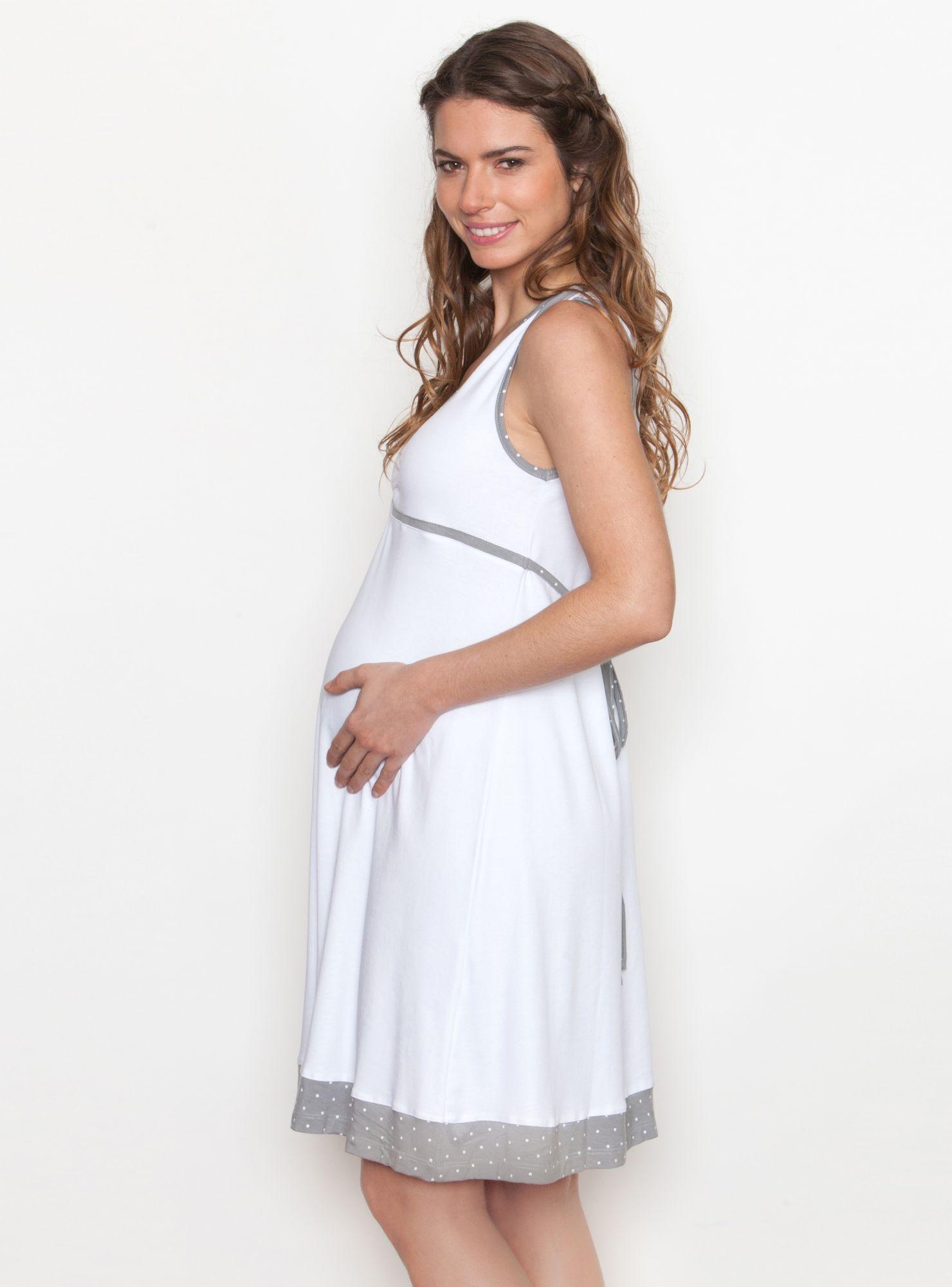 afb503231 Camisa Maternal de Dormir Botón Hombro Nala Maternity en Pijamas