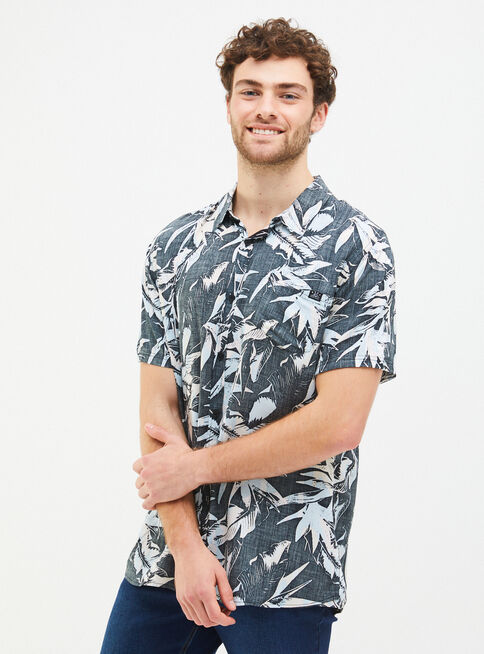 Camisa%20Estampada%20Manga%20Corta%20Reef%2CNegro%2Chi-res