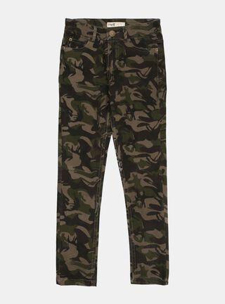 Pantalon Melt Print Niña,Verde Militar,hi-res